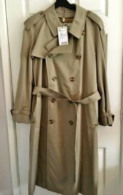 AQUASCUTUM DK BEIGE KINGSLAND Cotton Trench Coat With Removable Wool Liner BNWT